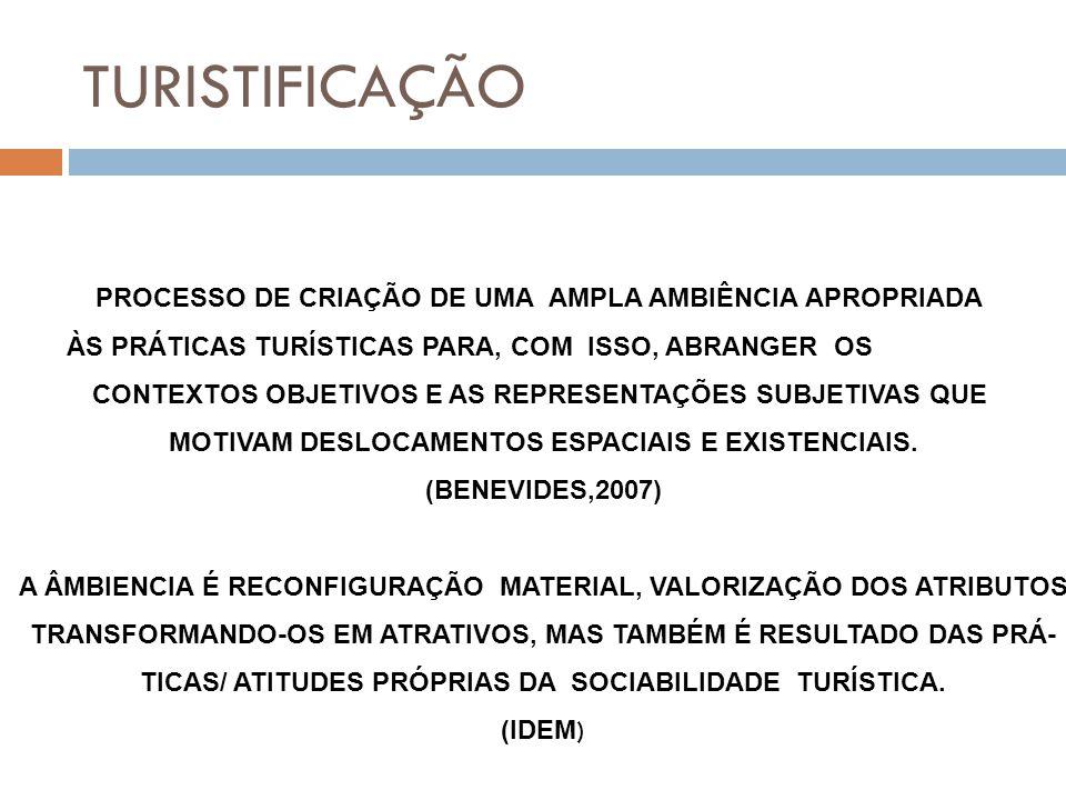 TURISTIFICAÇÃO PROCESSO DE CRIAÇÃO DE UMA AMPLA AMBIÊNCIA APROPRIADA