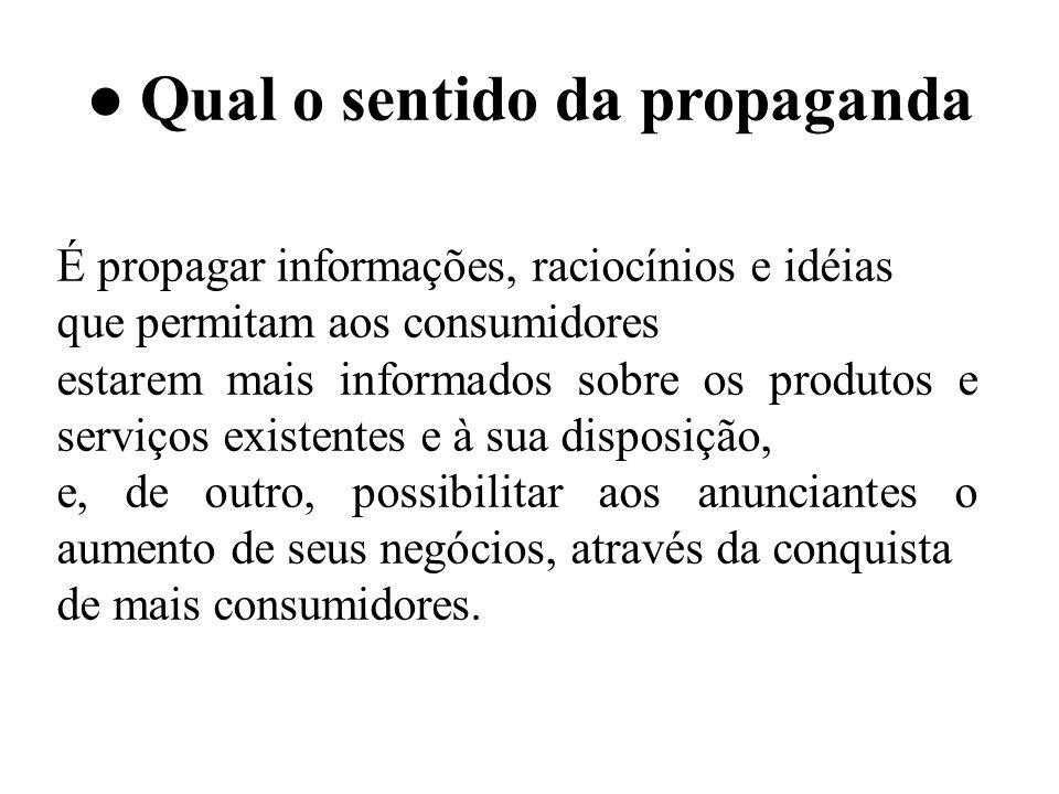 ● Qual o sentido da propaganda