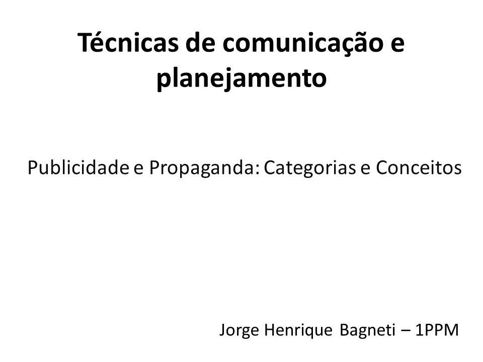 Técnicas de comunicação e planejamento