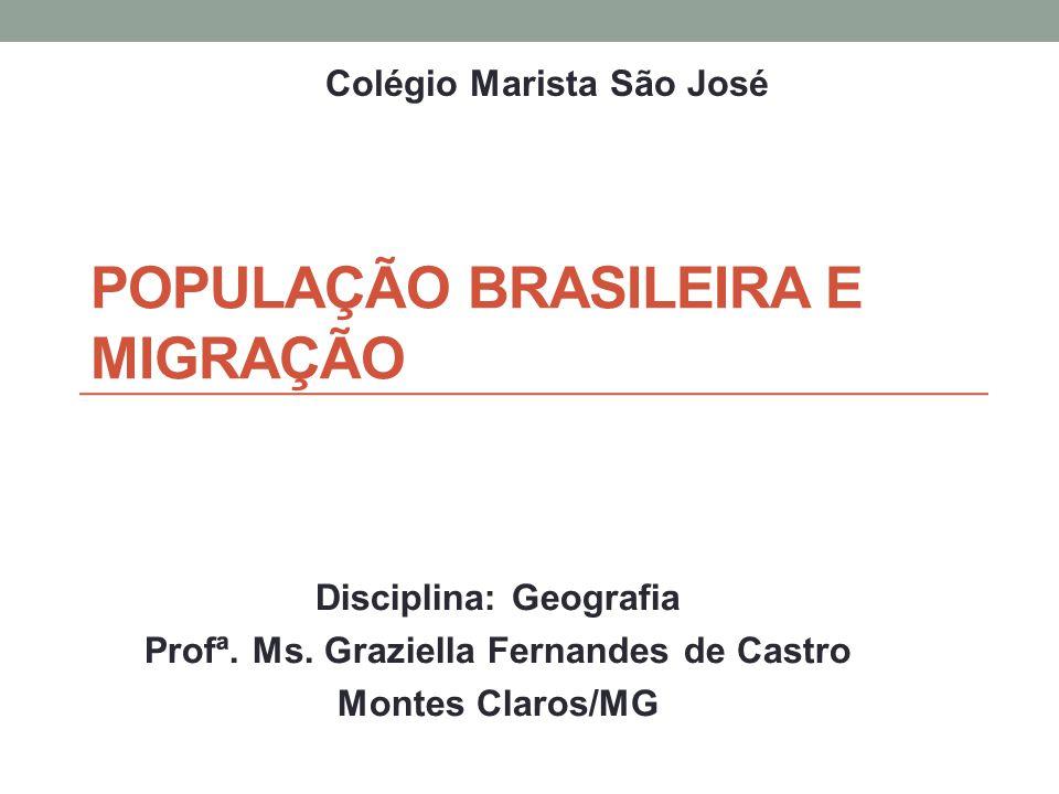POPULAÇÃO BRASILEIRA E MIGRAÇÃO