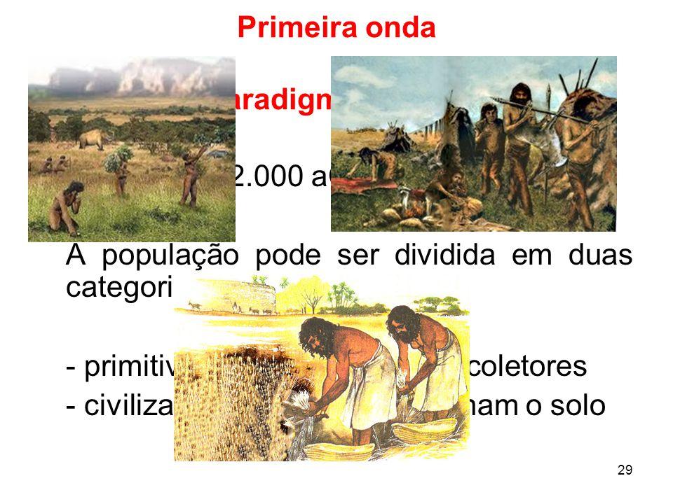 Primeira onda Paradigma agrário