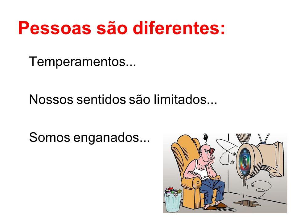 Pessoas são diferentes:
