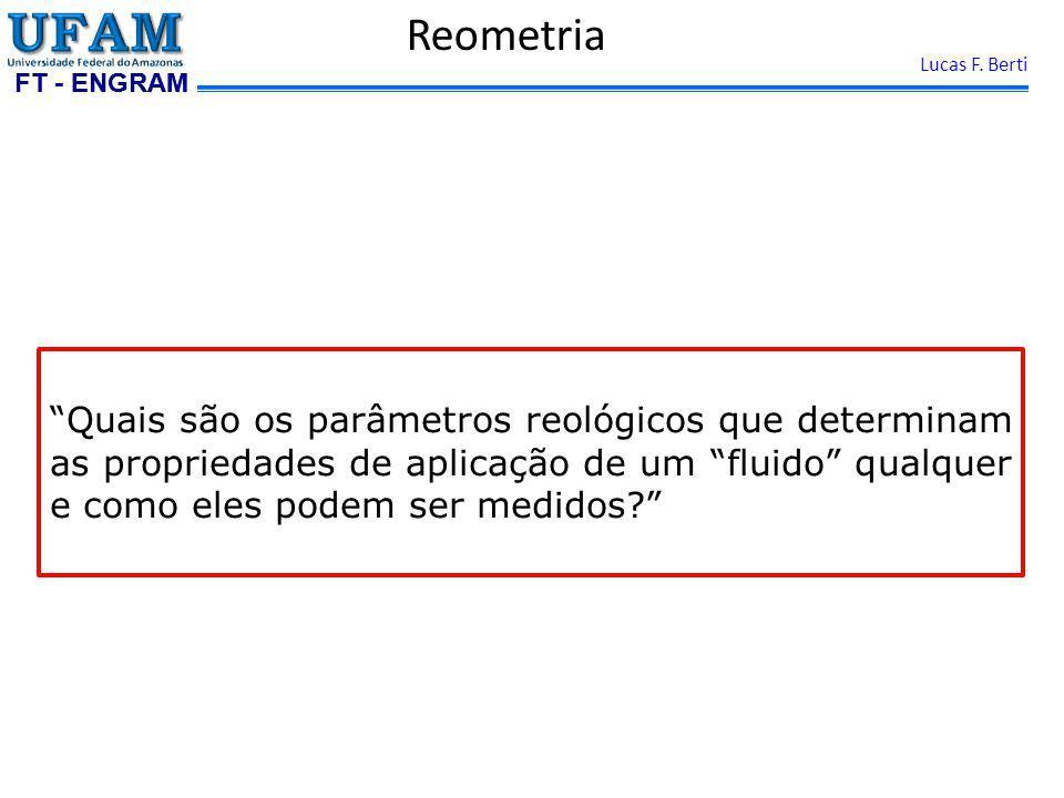 Reometria Quais são os parâmetros reológicos que determinam as propriedades de aplicação de um fluido qualquer e como eles podem ser medidos