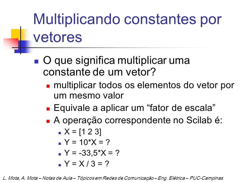 Multiplicando constantes por vetores