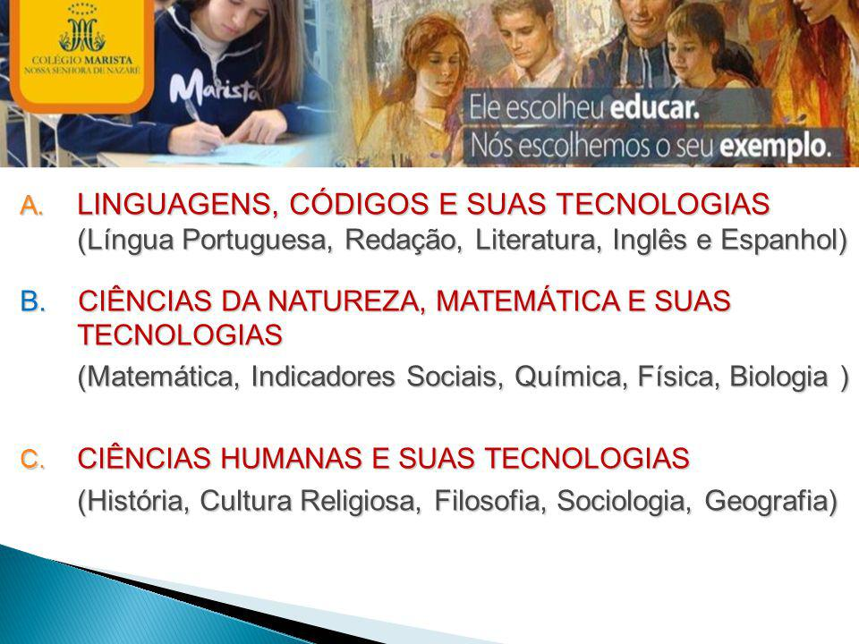 LINGUAGENS, CÓDIGOS E SUAS TECNOLOGIAS (Língua Portuguesa, Redação, Literatura, Inglês e Espanhol)