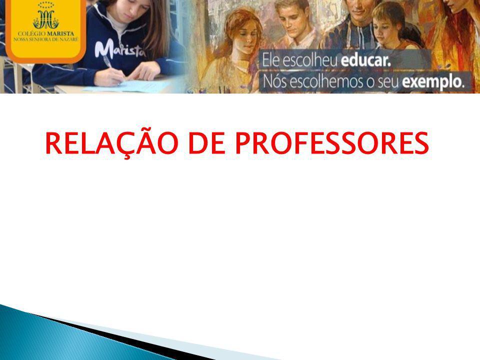 RELAÇÃO DE PROFESSORES