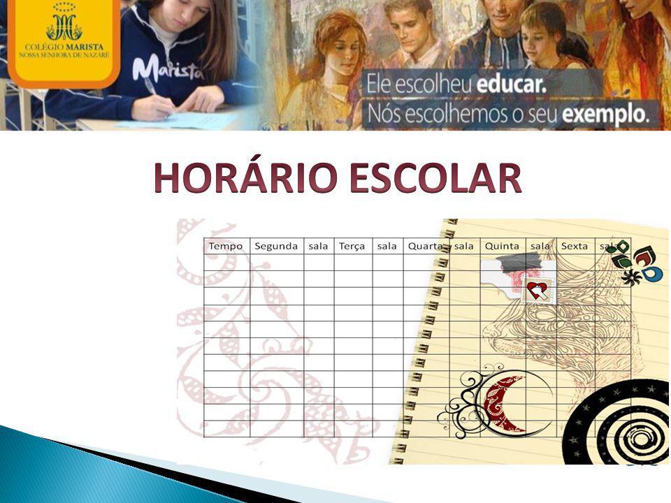 HORÁRIO ESCOLAR