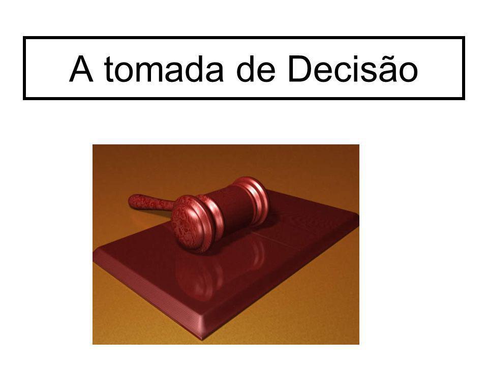 A tomada de Decisão