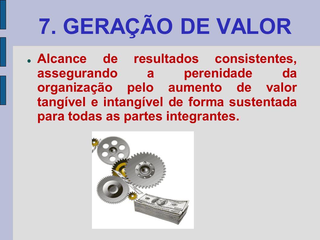 7. GERAÇÃO DE VALOR