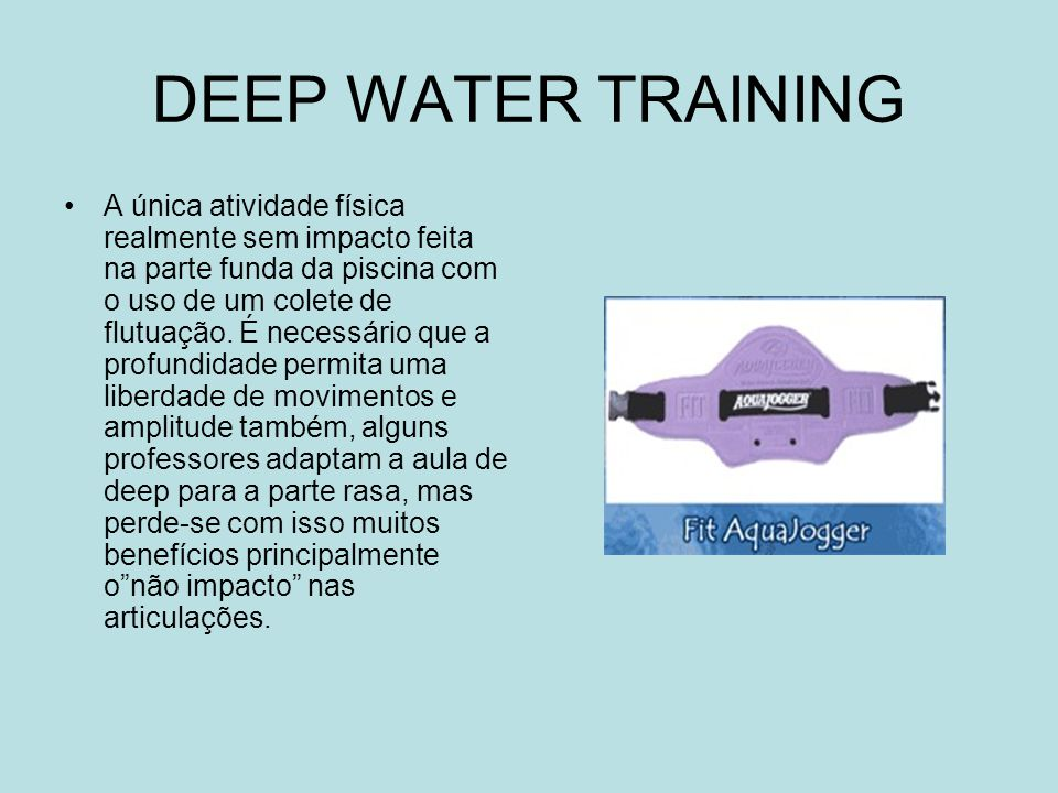 DEEP WATER TRAINING