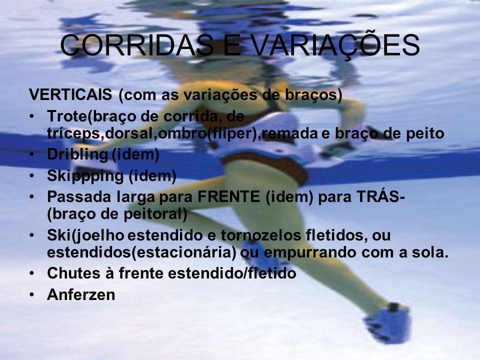 CORRIDAS E VARIAÇÕES VERTICAIS (com as variações de braços)