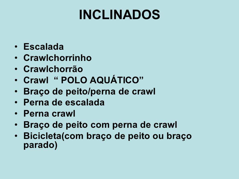 INCLINADOS Escalada Crawlchorrinho Crawlchorrão Crawl POLO AQUÁTICO
