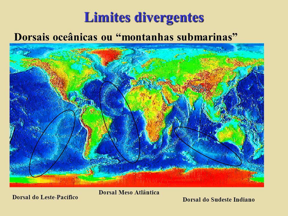 Dorsais oceânicas ou montanhas submarinas