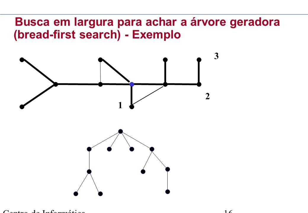 Busca em largura para achar a árvore geradora (bread-first search) - Exemplo