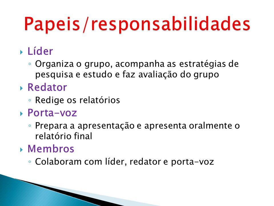 Papeis/responsabilidades