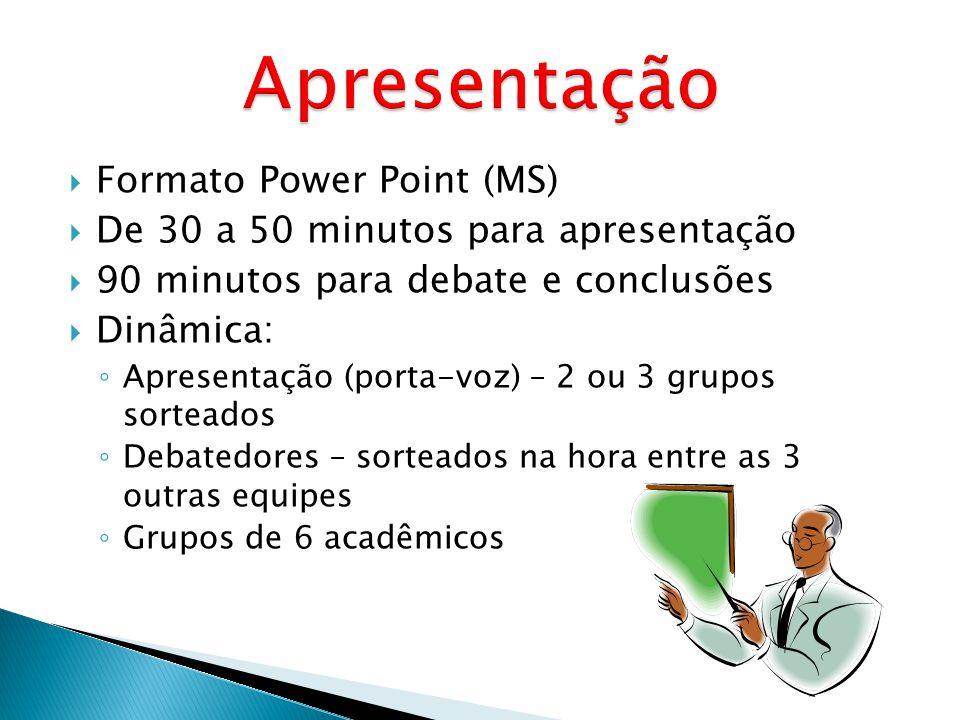 Apresentação Formato Power Point (MS)