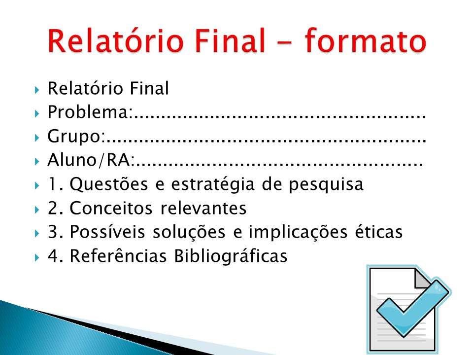 Relatório Final - formato