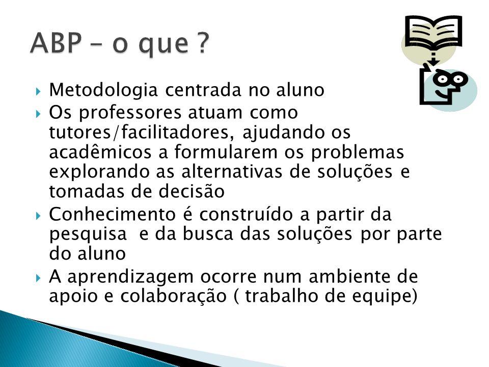 ABP – o que Metodologia centrada no aluno