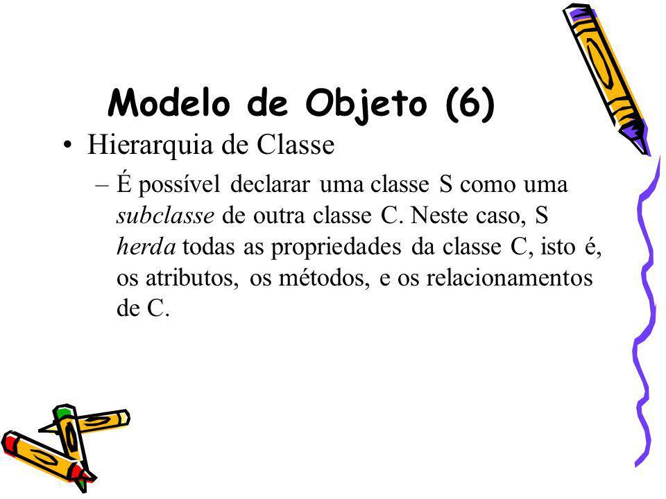 Modelo de Objeto (6) Hierarquia de Classe