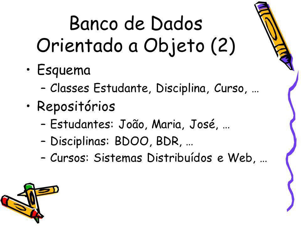 Banco de Dados Orientado a Objeto (2)