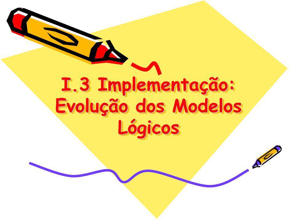 I.3 Implementação: Evolução dos Modelos Lógicos