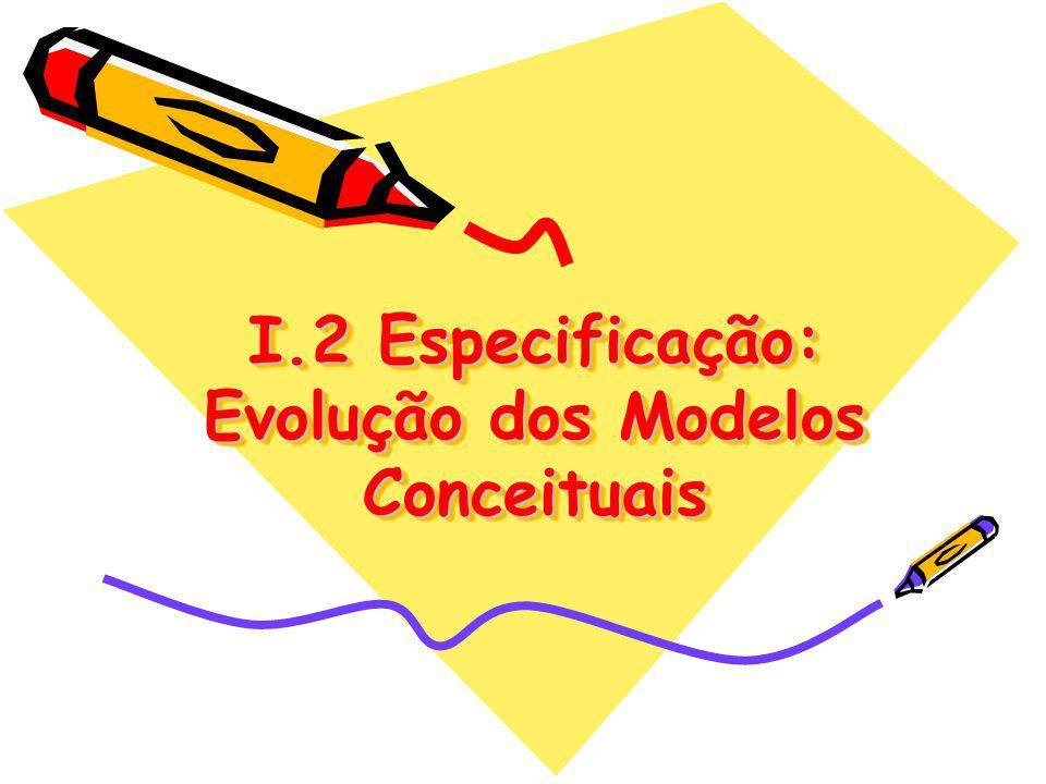 I.2 Especificação: Evolução dos Modelos Conceituais