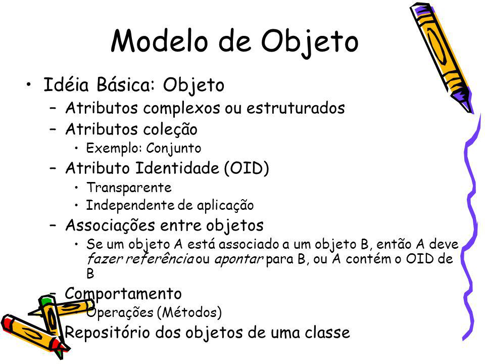 Modelo de Objeto Idéia Básica: Objeto
