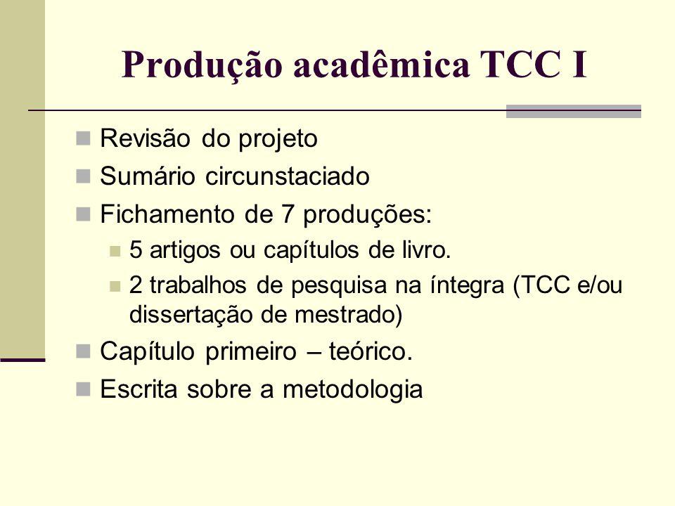 Produção acadêmica TCC I