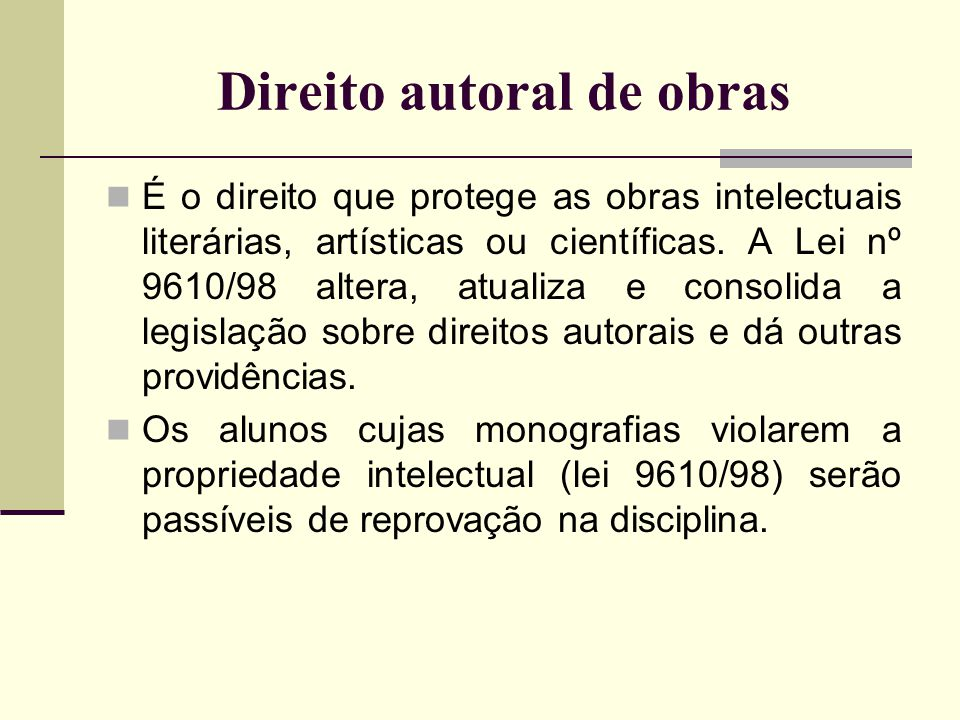 Direito autoral de obras