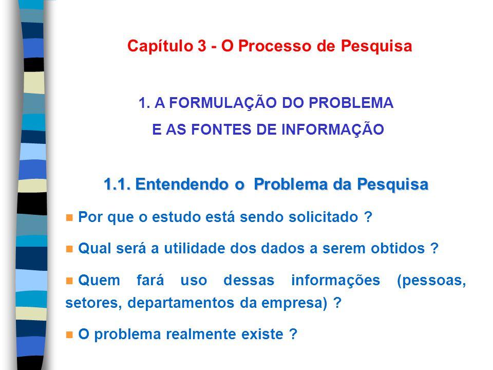 Capítulo 3 - O Processo de Pesquisa