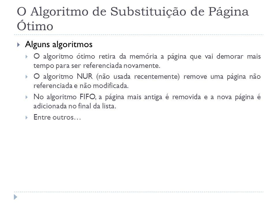 O Algoritmo de Substituição de Página Ótimo