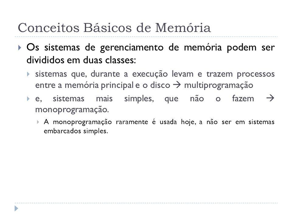Conceitos Básicos de Memória