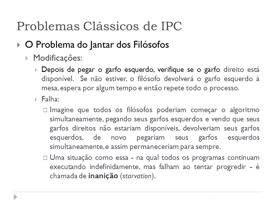 Problemas Clássicos de IPC