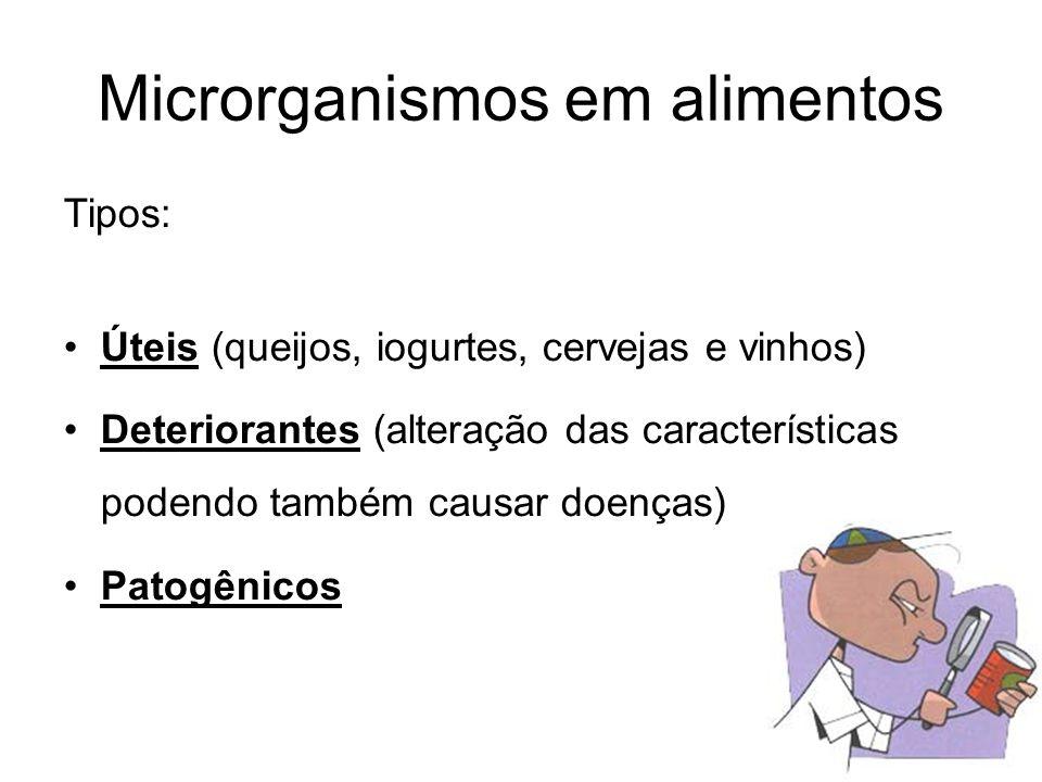 Microrganismos em alimentos