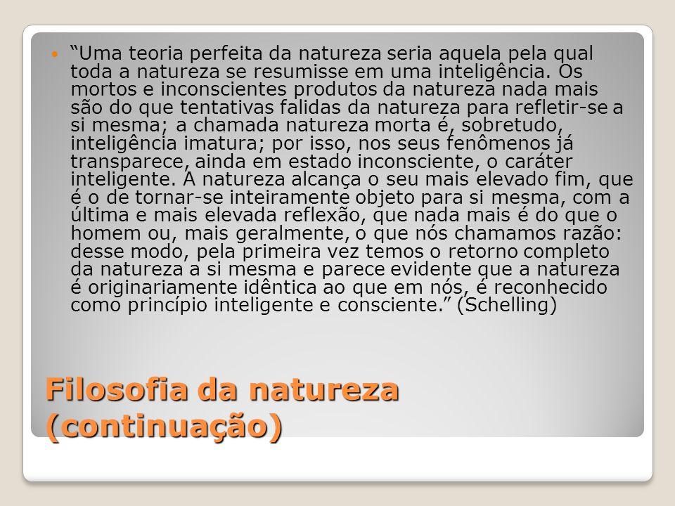 Filosofia da natureza (continuação)