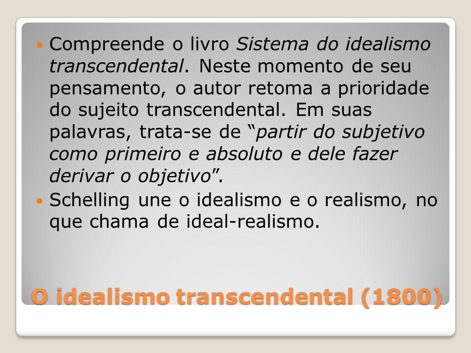 O idealismo transcendental (1800)
