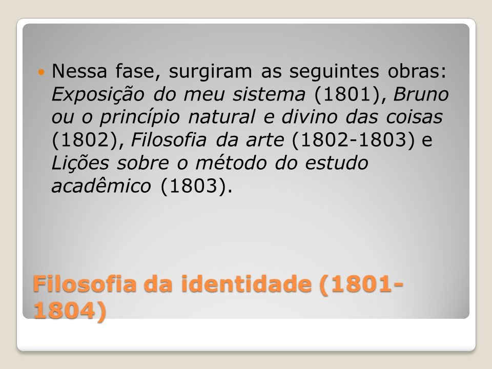Filosofia da identidade (1801-1804)