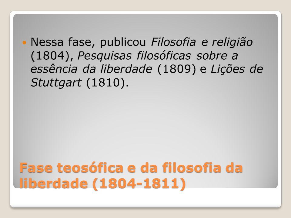 Fase teosófica e da filosofia da liberdade (1804-1811)