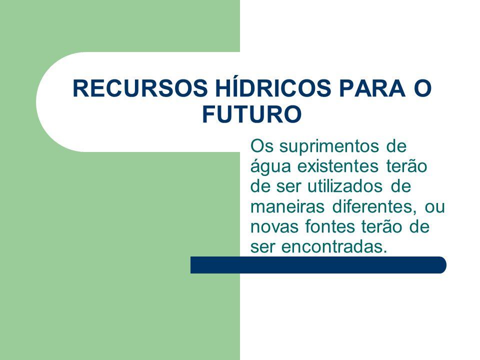 RECURSOS HÍDRICOS PARA O FUTURO
