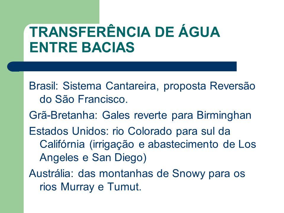 TRANSFERÊNCIA DE ÁGUA ENTRE BACIAS