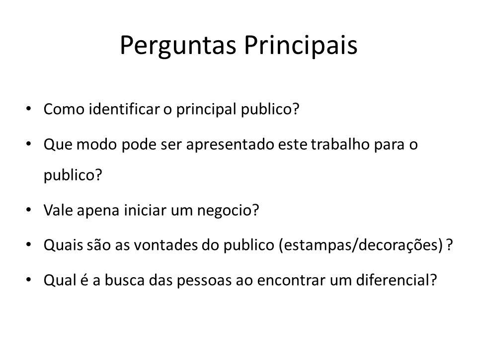 Perguntas Principais Como identificar o principal publico