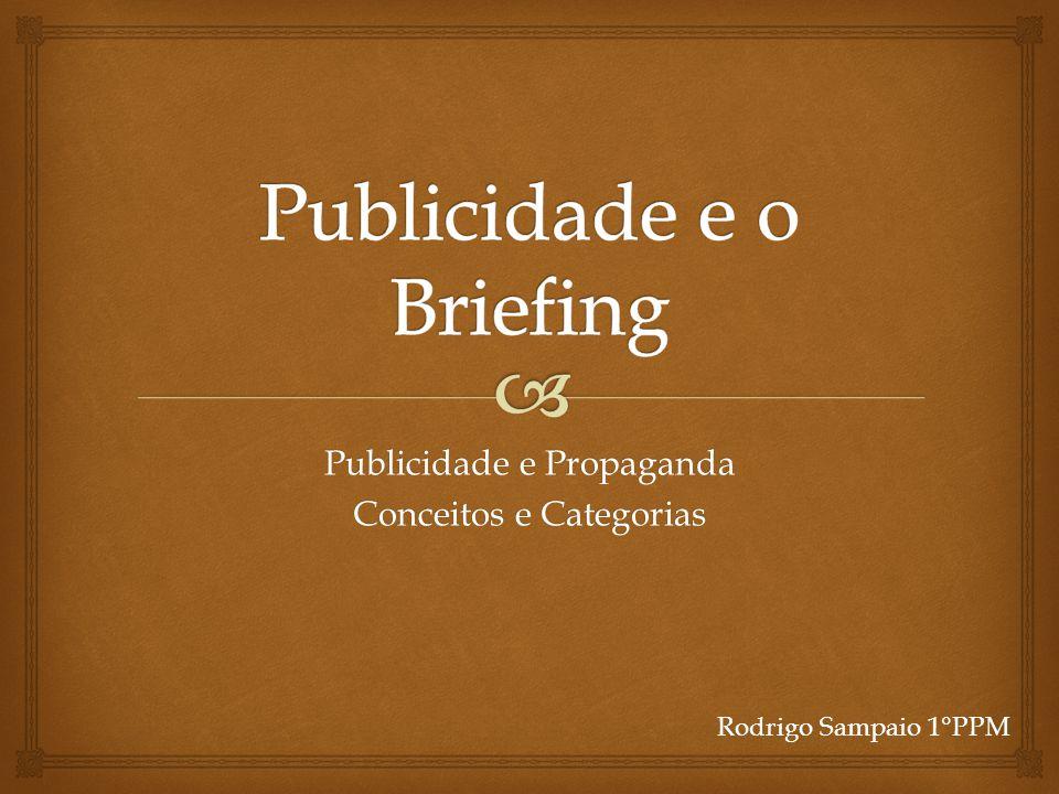 Publicidade e o Briefing