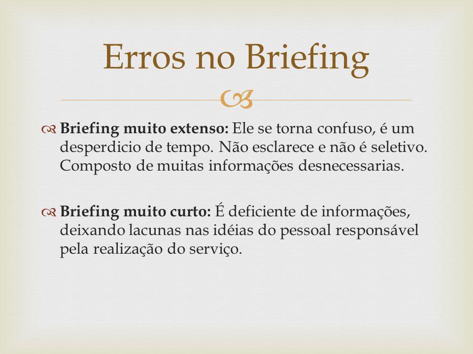 Erros no Briefing