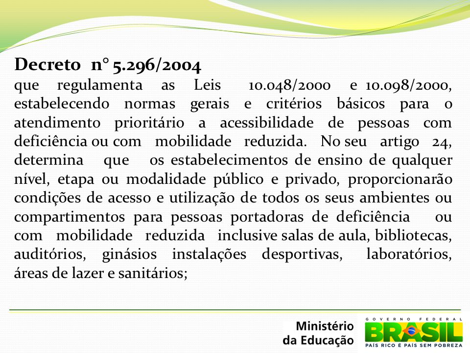 Decreto n° 5.296/2004
