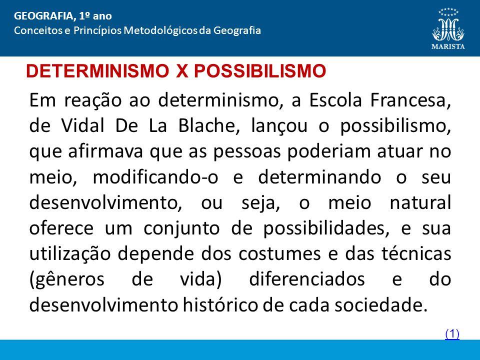 DETERMINISMO X POSSIBILISMO