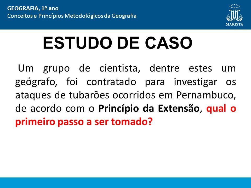 GEOGRAFIA, 1º ano Conceitos e Princípios Metodológicos da Geografia. ESTUDO DE CASO.