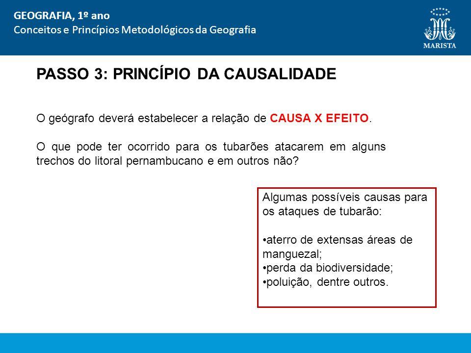 PASSO 3: PRINCÍPIO DA CAUSALIDADE