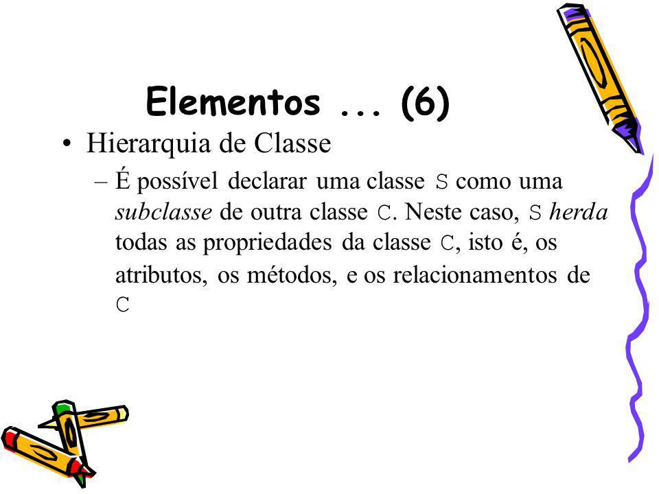 Elementos ... (6) Hierarquia de Classe