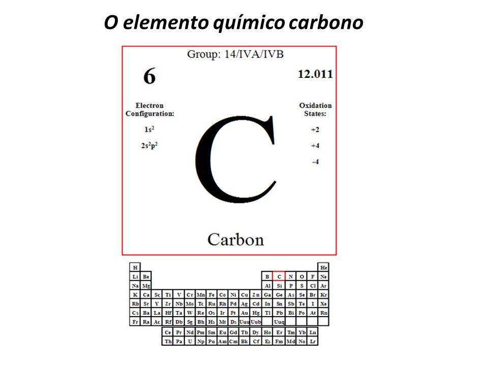 O elemento químico carbono