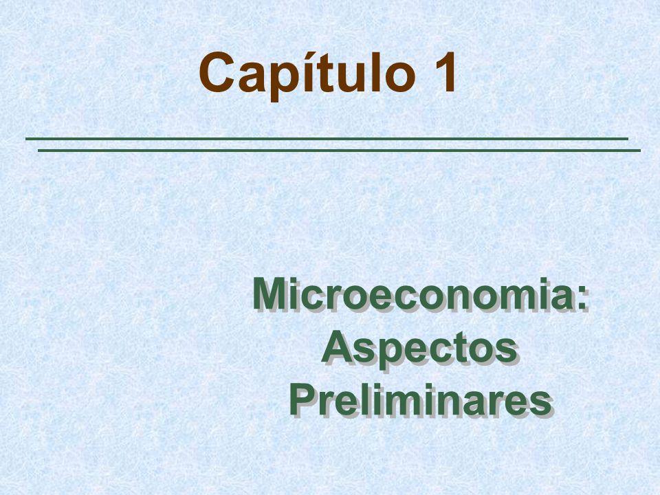 Microeconomia: Aspectos Preliminares